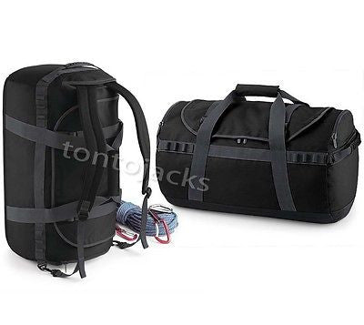 Pro Cargo Bag Backpack Rucksack Holdall Travel Bag Combo 68 Litre Black Student