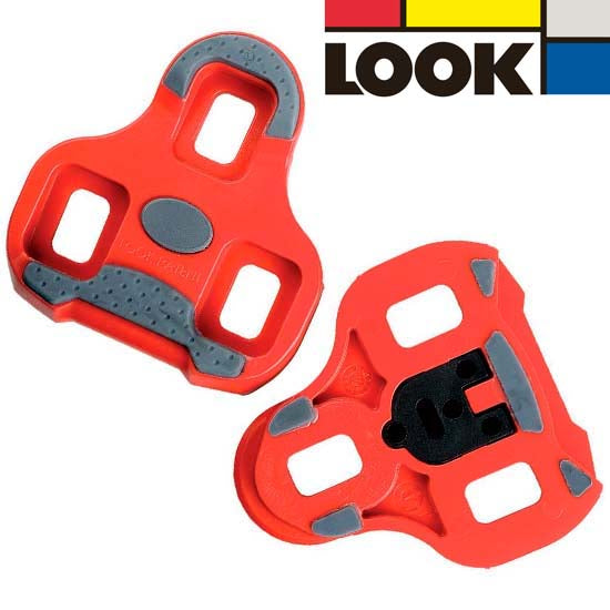 Look Keo Road Racing Bike Bicycle Cleats Red 9 Degree Float Clipless Pedals