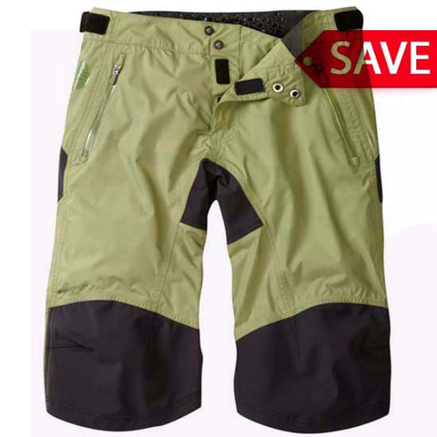 Madison DTE Mens Waterproof Baggy MTB Bicycle Bike Shorts Olive Green
