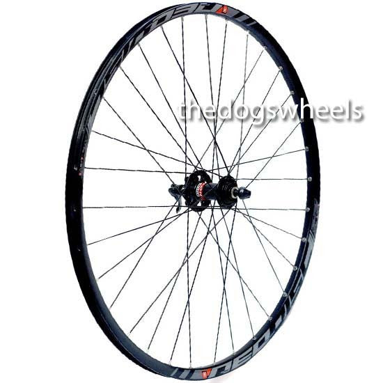 "Novatec 27.5"" Sealed Bearing Disc Front Wheel Mach 1 Black rim QR 650B"
