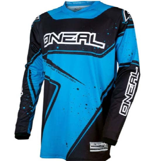 O'neal Element Long Sleeve Sleeved DH Downhill MTB Bike Jersey Black Blue