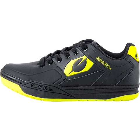 O'Neal Pinned SPD Clipless Mountain Bike MTB Cycle Cycling Shoes Black Yellow Oneal