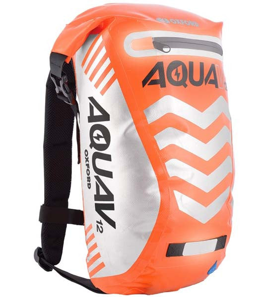 Oxford Aqua V12 Waterproof Roll Top closure Backpack Rucksack Bike Cycle MTB Orange