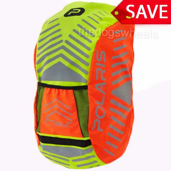 Polaris Waterproof Backpack Rucksack Cover High Visibility Yellow Cycle Bike
