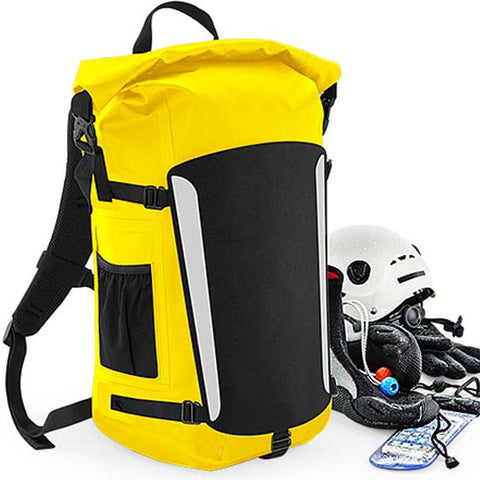 Waterproof Roll Top Backpack Rucksack High visibility Yellow Bicycle Mountain Bike MTB