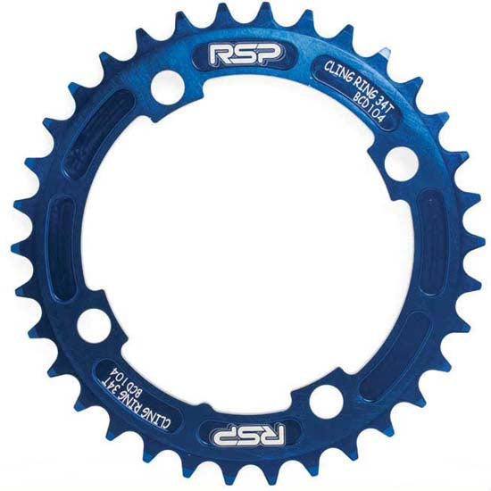 RSP Narrow Wide Chainring 36T 104BCD Mountain Bike MTB Bicycle Blue Clingring