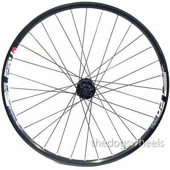 "Trubuild / Neuro / Formula 26"" MTB Front Wheel 20mm Bolt Through Hub Disc Brake Mach 1 Rim"