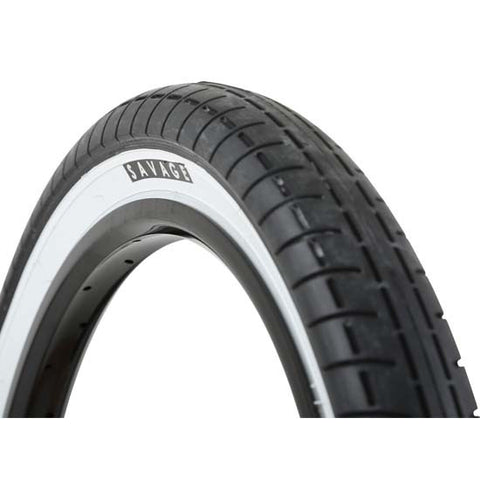 "Savage 20"" x 2.40"" BMX Bike Bicycle Tyre Tyres White Wall Whitewall"