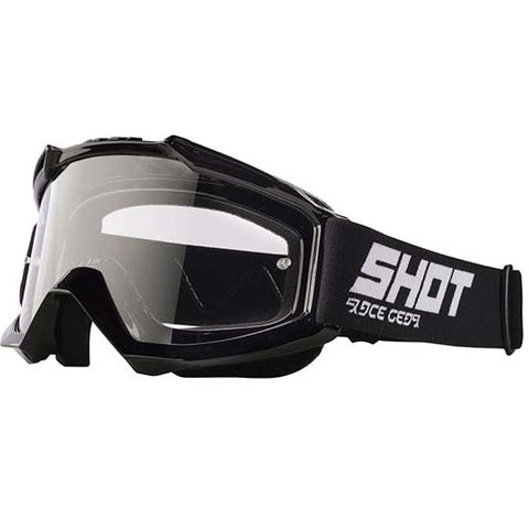 Shot Assault DH Downhill Mountain Bike MTB Motox Motocross Goggles Gloss Black