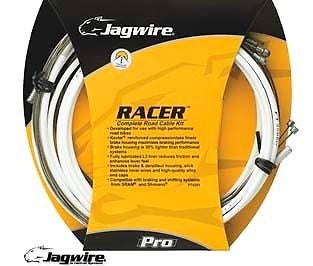 Jagwire Racer Racing Road Bike Bicycle GEAR BRAKE Cable Kit White Cables