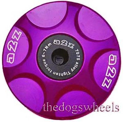 A2Z purple alloy headset topcap top cap mtb bicycle bike