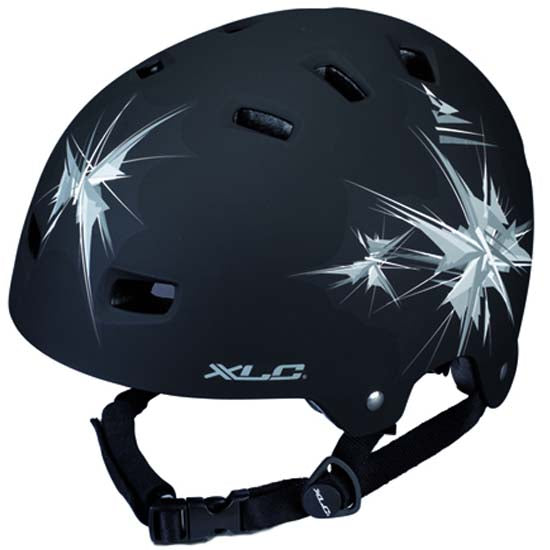 XLC Urban BMX Helmet Mountain Bike MTB Bicycle Black Sparks DIAL ADJUST 53-58cms