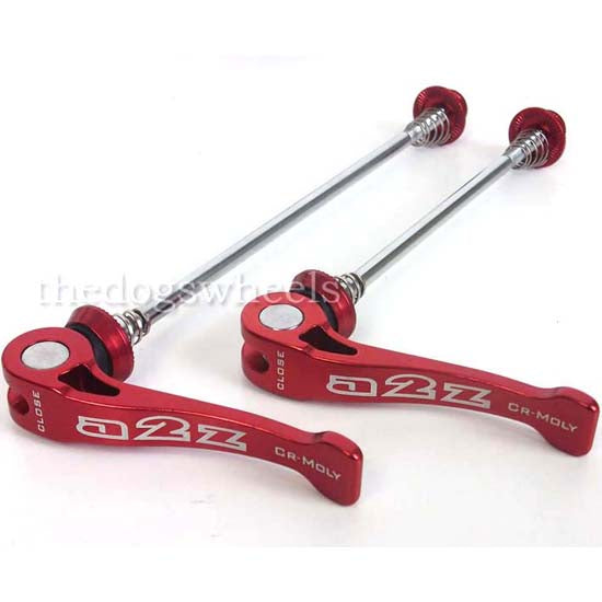 A2Z Quick Release Wheel Skewers QR Bicycle MTB Mountain Bike Red Q/R Spindles