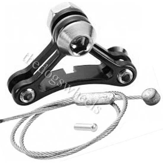 """ALLOY 1/"""" BICYCLE BRAKE SHIFTER CABLE HANGER BRACKET ALLOY"""