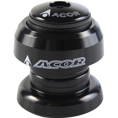 "ACOR Alloy Threadless Headset 1.1/8"" MTB Bicycle Bike Black 28.6mm aheadset"
