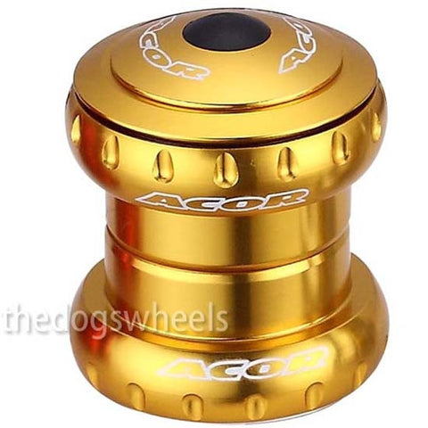 "Acor 1.1/8"" Headset MTB Bicycle Bike Sealed Bearings Gold Head Set 28.6mm"