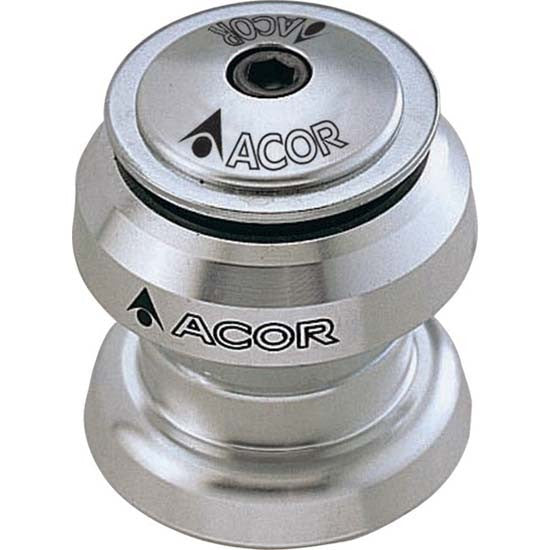 "ACOR Alloy Threadless Headset 1.1/8"" MTB Bicycle Bike Silver 28.6mm aheadset"