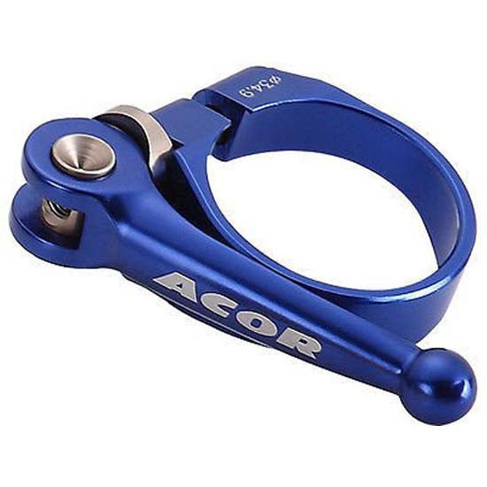 Acor CNC Alloy QR Quick Release Seat Post Seatpost Clamp Blue