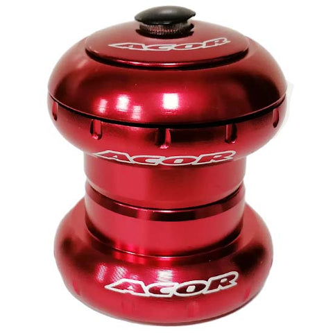 "Acor 1.1/8"" Headset MTB Bicycle Bike Sealed Bearings Red Head Set 28.6mm"