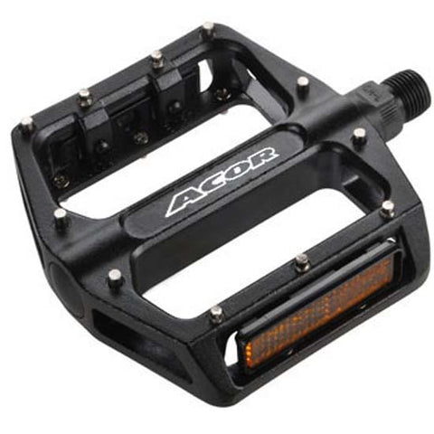 Acor Mountain Bike MTB Bicycle / BMX Flat Platform Pedals Black 9/16""