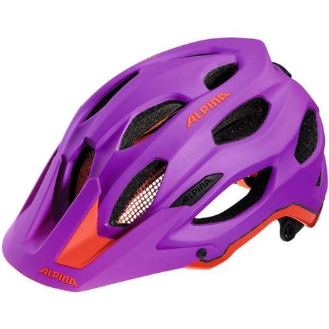 Alpina Carapax Enduro Mountain Bike MTB Helmet Purple & Red 53-57cms