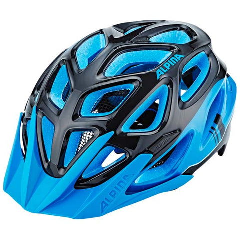 Alpina Mythos 3 Mountain Bike MTB Helmet Black / Blue 57-62cms