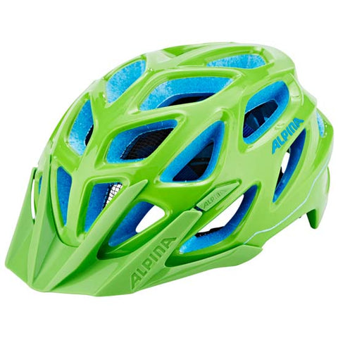 Alpina Mythos 3 Mountain Bike MTB Helmet Green / Blue 57-62cms
