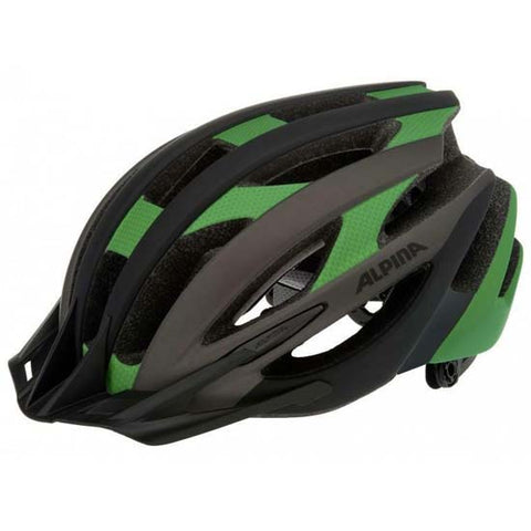 Alpina Pheox Mountain Bike MTB Helmet Black / Green 55-59cms