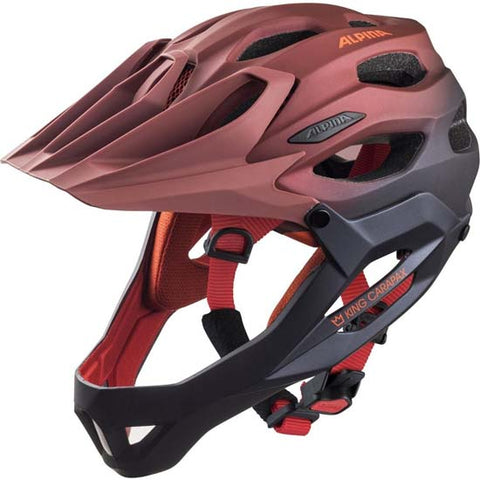 Alpina King Carapax Enduro Helmet Fullface Full Face MTB Bike 57-62cms Cherry Drop