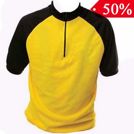 Road Racing Bike Bicycle Cycle Cycling Jersey TShirt Yellow T Shirt Top Large