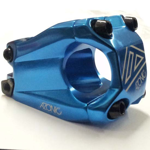 Azonic Baretta Evo Handlebar Stem Mountain Bike MTB Bicycle 31.8mm x 40mm Blue