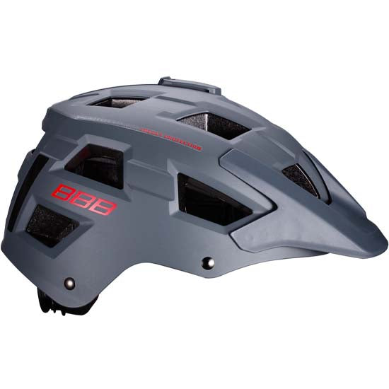 BBB Nanga Mountain Bike MTB Enduro Style Helmet Matt Grey / Red
