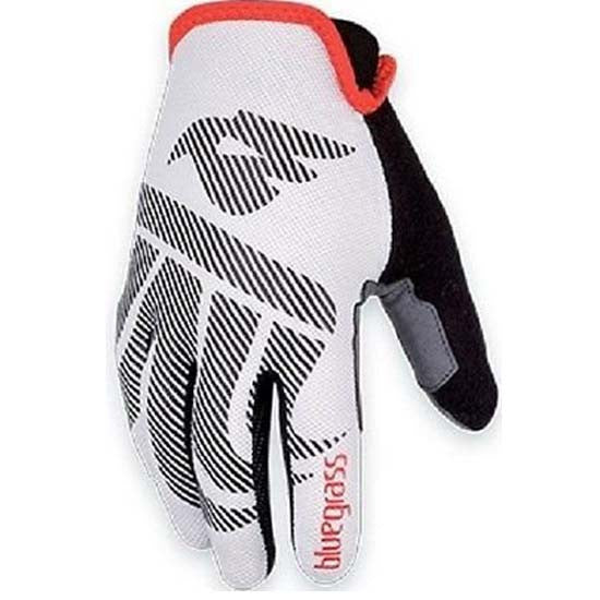 Bluegrass Red Wolf MTB Gloves Bike Cycling Strap Free Glove White Breathable