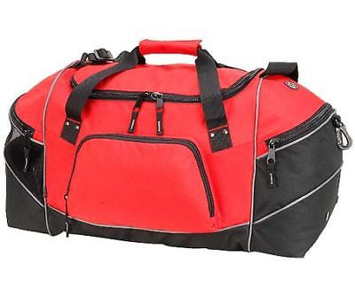 Sports Gym Holdall Duffle Overnight Weekend Travel Bag Mens Mans Red