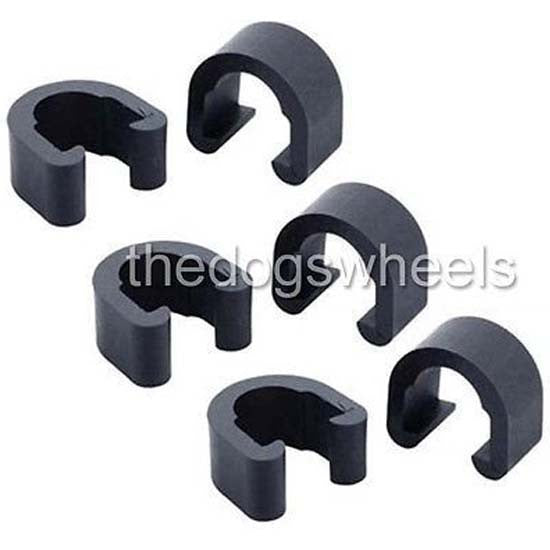 6 U C Clip Clips Brake Gear Cable Housing Guides Ties Tidy Tidies Bicycle MTB