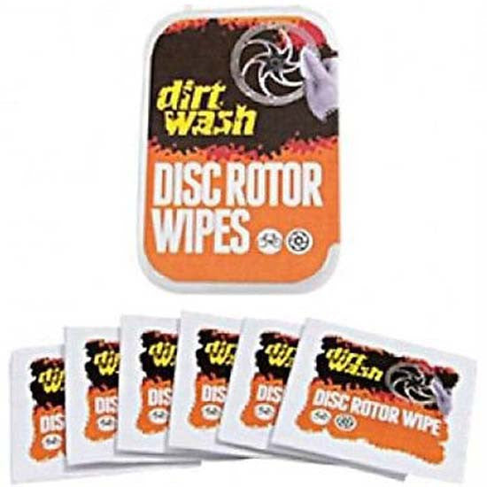 Dirtwash Isopropyl Alcohol Disc Brake Rotor Wipes MTB Bicycle Bike Pack of 6
