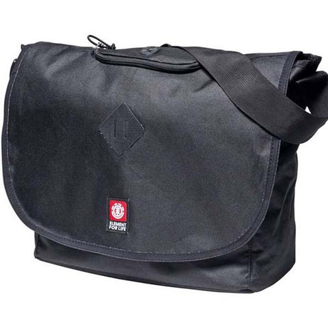 "Element Crossover Student College Messenger 15"" Laptop Shoulder Bag Black"