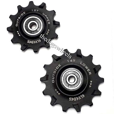 Jockey Pulley Wheels 12T 14T SRAM Compatible XX1 X01 GX 12 speed / 11 speed