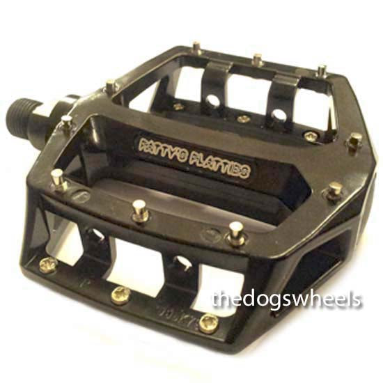 "Fat Spanner Mountain Bike MTB Bicycle Flat Platform Pedals 9/16"" Black"