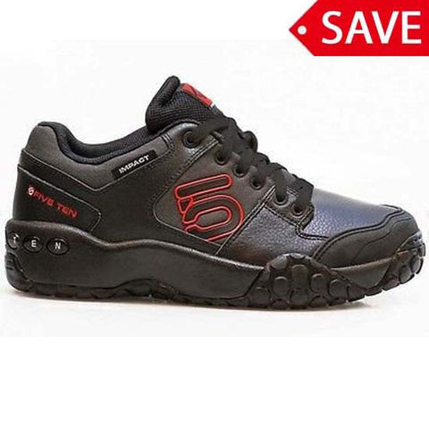Five Ten Impact Low Shoes MTB Bike Flat Pedal Cycle 510 Fiveten Black Red
