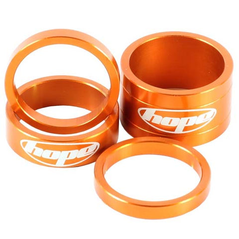 "Hope 1.1/8"" Alloy Headset Spacers orange Mountain Bike MTB Bicycle"