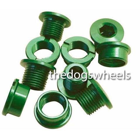 Single Chain Ring Narrow Chainring Bolts MTB Bike Bicycle Alloy Green