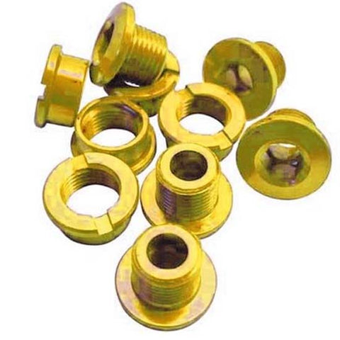Single Chain Ring Narrow Chainring Bolts MTB Bike Bicycle Alloy Gold