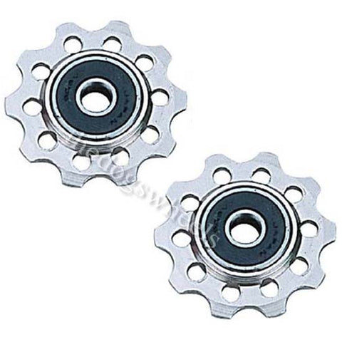 10T Silver Alloy Machined Rear Derailleur Jockey Pulley Wheels MTB Bicycle Bike Sealed