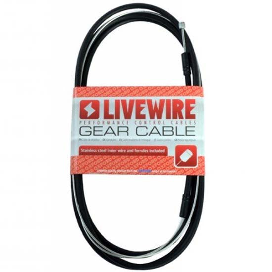 Livewire / Oxford Performance Complete MTB Bicycle Bike Gear Cable Stainless Steel Black
