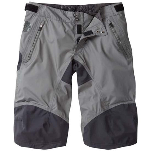Madison DTE Mens Waterproof Baggy MTB Bicycle Bike Shorts Grey / Black