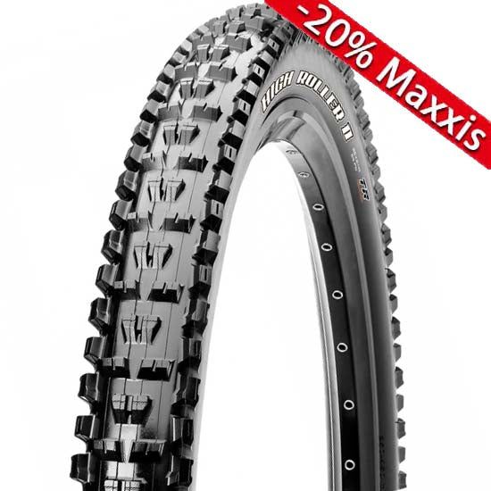 "Maxxis High Roller II Tyre 27.5"" x 2.3 60tpi Folding Dual Compound EXO TR MTB"