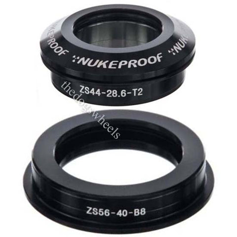 "Nukeproof 44/56IITS Semi Integrated Tapered Headset 1.5"" - 1.1/8"" Black 44mm / 56mm"