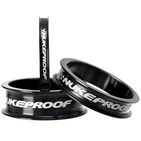 "Nukeproof MTB Headset Spacer Kit 1.1/8"" MTB Bike 5mm, 10mm, 15mm Black Spacers"