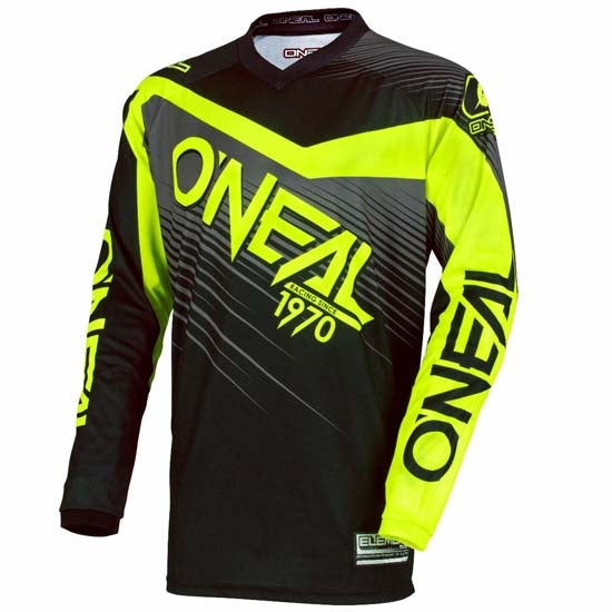 0689f0cf5 O Neal Element Long Sleeve DH Downhill Mountain Bike MTB Jersey Black Neon  Yellow 2018